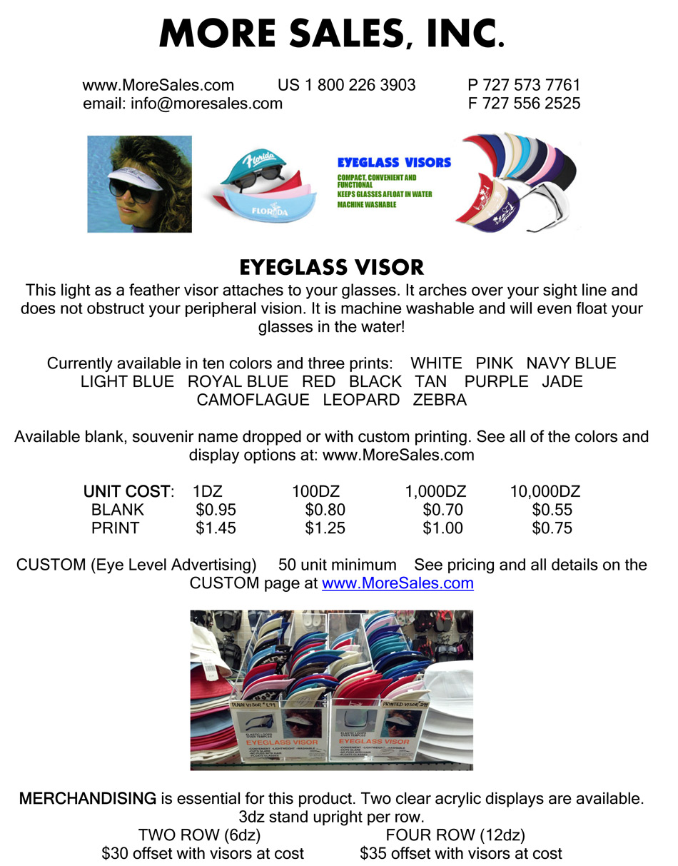 Eyeglass Visor Catalog