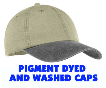 More Sales Pigment Dyed and Washed Caps