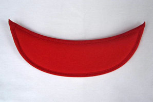Red Eyeglass Visor